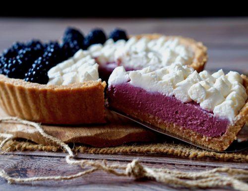 No Bake Blackberry Mascarpone Pie