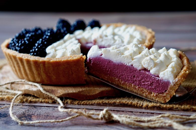 No Bake Blackberry Mascarpone Pie