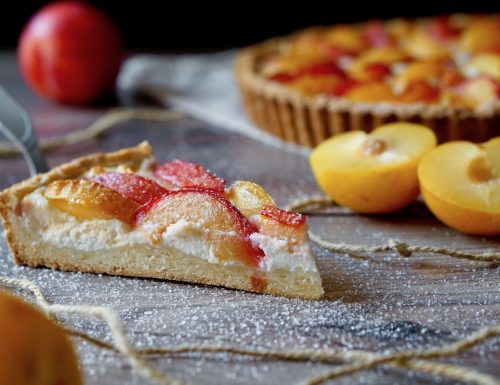 Plum and Ricotta Tart
