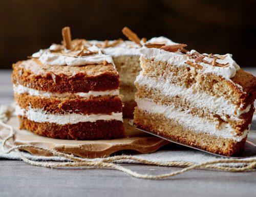 Coffee Cinnamon Layer Cake