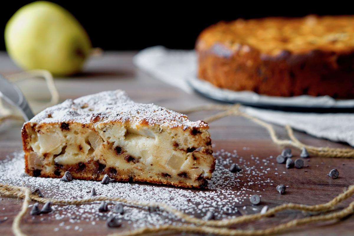 Chocolate and Ricotta Pear Cake
